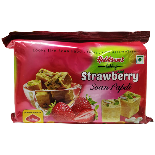 Haldiram Soan Papdi Strawberry 200 gm