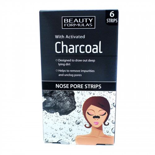 Beauty Formulas Deep Cleansing Charcoal Nose Pore Strips 6 Pcs Pack