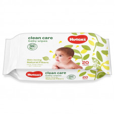 Huggies Clean Care Baby Wipes Mini Pack 20 Pcs