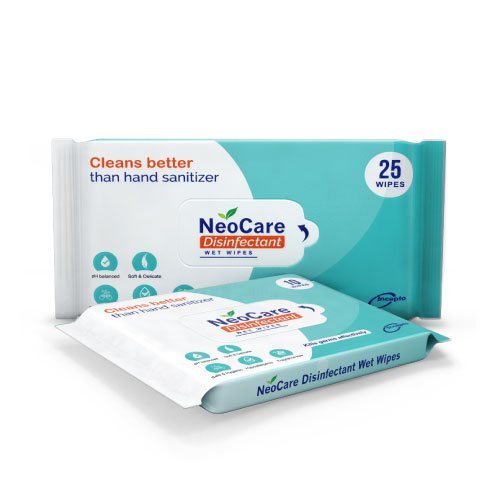 Neocare Disinfectant Wet Wipes 25 Pcs