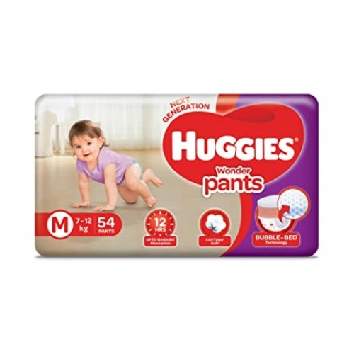 Huggies Wonder Pants Medium 7-12 Kg 54 Pcs