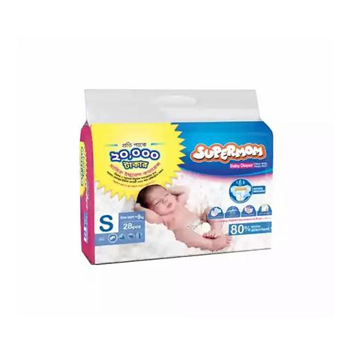 Supermom Diaper Belt Newborn to 8 Kg 28 Pcs