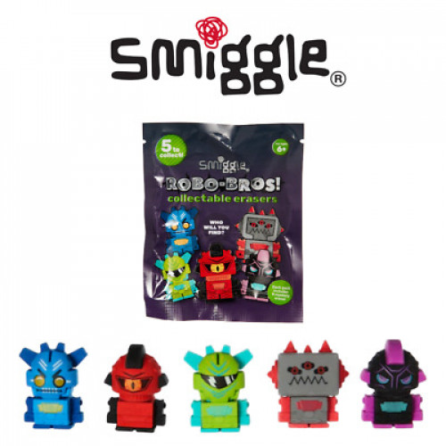 Smiggle Collectable Erasers Mystery Bag Robot