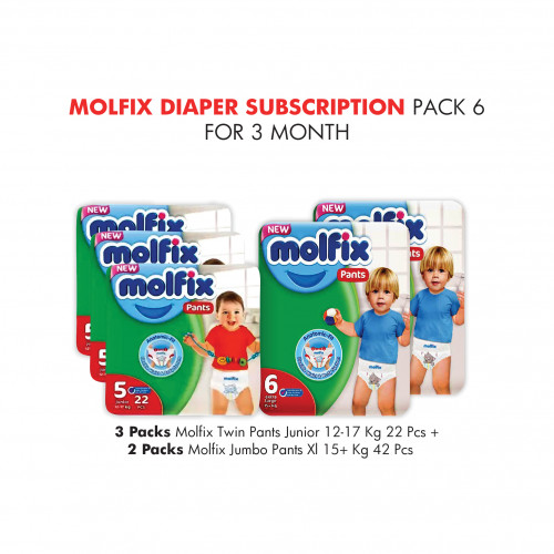 Molfix Diaper Subscription Pack 6 for 3 Months