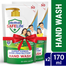 Mediker SafeLife Hand Wash Refill Combo Pack (170ml X 2pcs)