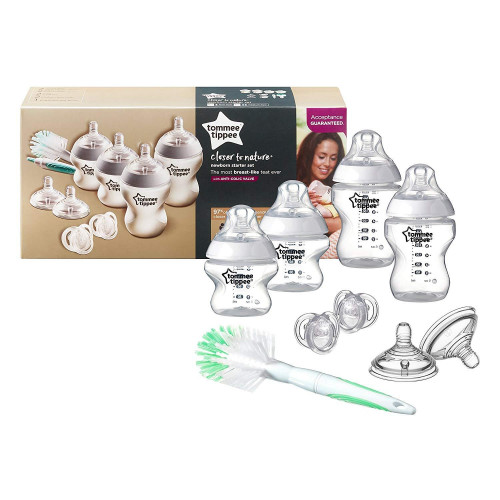 Tommee Tippee Closer to Nature Newborn Starter Kit: Clear