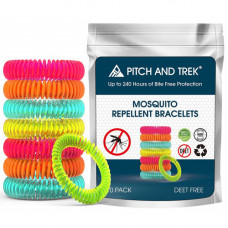 Pitch and Trek Mosquito Repellent Bracelet 10 Pieces Per Pack