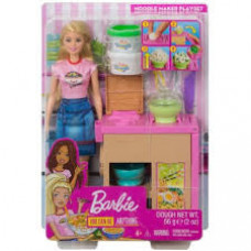 Barbie GHK43 Noodle Maker Doll & Playset