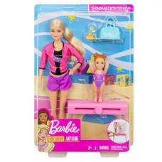 Barbie FXP39 Gymnastics Coach Dolls & Playset
