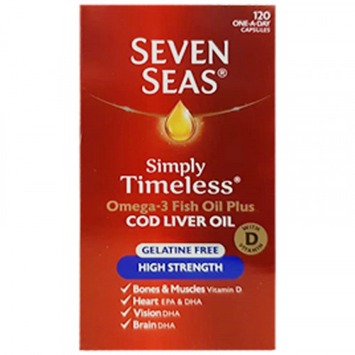 Seven Seas High Strength 120 Capsules
