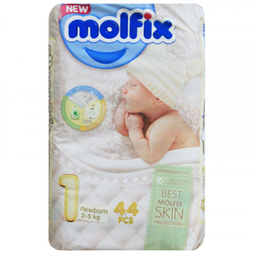 Molfix Twin Newborn Belt 2-5 Kg 44 Pcs (Made in Turkey)
