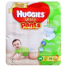 Huggies Ultra Gold Medium Pant Diaper 6-12Kg - 56 Pcs (Malaysia)
