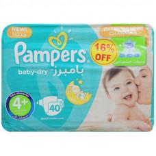 Pampers 4+ Belt Diaper 9-16Kg - 40 Pcs (Kingdom of Saudi Arabia)