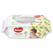 Huggies Clean Care Baby Wipes 80 Pcs