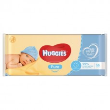 Huggies Pure Baby Wipes 56 Pcs