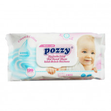 Pozzy Baby Wet Wipes 120 pcs (Turkey)