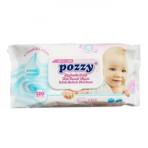 Pozzy Baby Wet Wipes 120 pcs (Turkey)