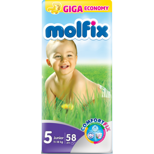 Molfix Giant Junior Belt 11-18 Kg 58 Pcs (Made in Turkey)