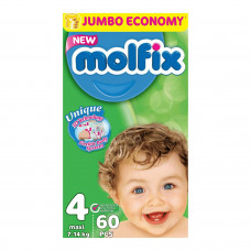 Molfix Jumbo Maxi Belt 7-14 Kg 60 Pcs (Made in Turkey)