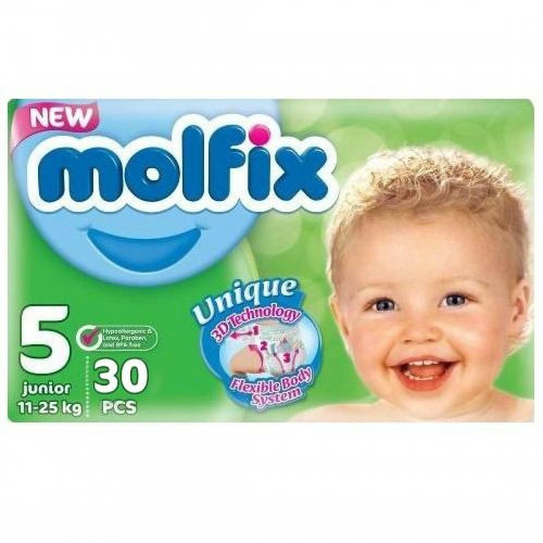 Molfix Twin Junior Belt 11-18 Kg 30 Pcs (Made in Turkey)