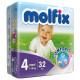 Molfix Twin Maxi Belt 7-18 Kg 32 Pcs (Made in Turkey)