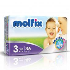 Molfix Twin Midi Belt 4-9 Kg 36 Pcs (Made in Turkey)