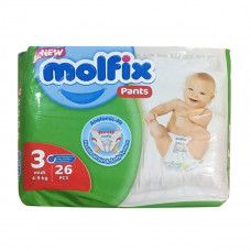 Molfix Twin Pants Midi 6-11 Kg 26 Pcs (Made in Turkey)