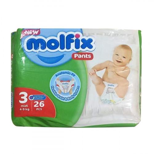 Molfix Twin Pants Midi 6-11 Kg 26 Pcs (Made in Turkey)