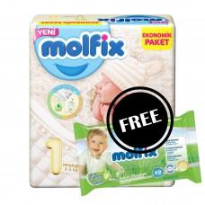 Molfix Twin Newborn Belt 2-5 Kg 62 Pcs (Made in Turkey)