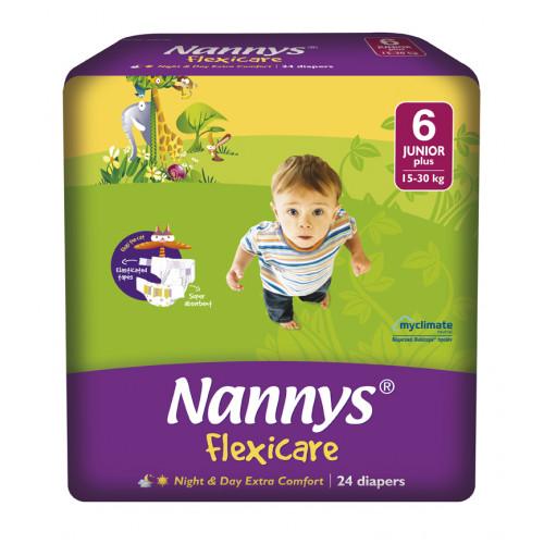 Nannys Baby Diaper 6 Junior Plus Belt 15-30 kg 24 pcs (Made in Cyprus)