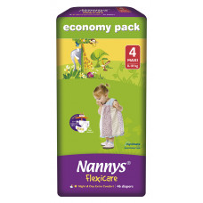 Nannys Baby Diaper 4 Maxi Belt 8-18 kg 46 pcs (Made in Cyprus)