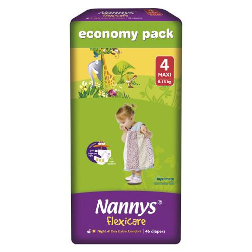 Nannys Baby Diaper 4 Maxi Belt 8-18 kg 46 pcs (Made in Cyprus)