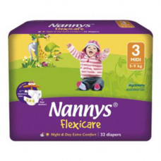 Nannys Baby Diaper 3 Midi Belt 5-9 kg 32 pcs (Made in Cyprus)