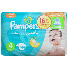 Pampers 4 Belt Diaper 9-14Kg - 44 Pcs (Kingdom of Saudi Arabia)