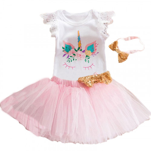 1 Year Baby Girl Dress Princess: Pink