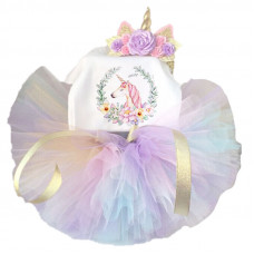 1 Year Baby Girl Unicorn Dress Princess Multicolor