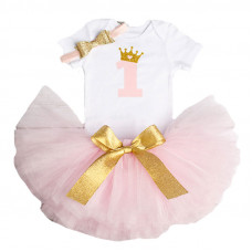 1 Year Baby Girl Dress Princess Girls: Pink