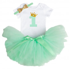 1 Year Baby Girl Dress Princess Girls: Mint