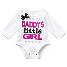 Baby Girl Long Sleeve Bodysuit Daddy's Little Girl