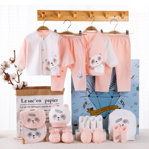 Newborn Baby Romper 18 Piece Set - Pink