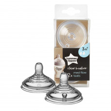 Tommee Tippee Close To Nature Nipple 3 Month+ (Midflow)