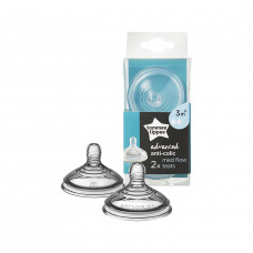Tommee Tippee Advance Anti-colic Nipple 3 Month+ (Med Flow)