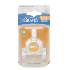 Dr. Brown's Nipple Level 3 (6m+) for All Wide-Neck Bottles