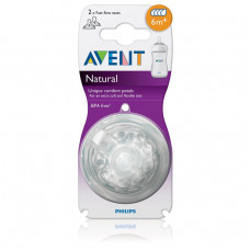 Philips Avent Natural Nipple 6 M+ ( Fast Flow )