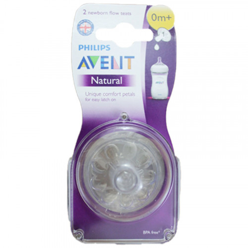 Philips Avent Natural Nipple 0 m+ Newborn Flow