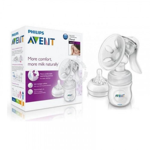 Philips Avent Comfort Manual Breast Pump With Bottle