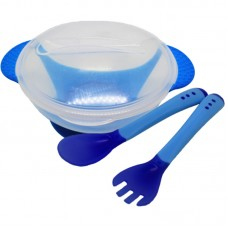 Food Pot With Spoon Blue