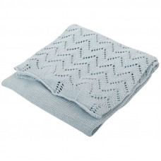Silvercloud Cotton Shawl Silver Blue
