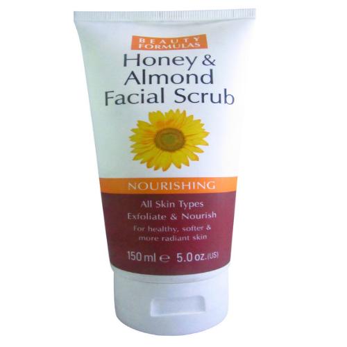 Beauty Formulas Honey & Almond Facial Scrub Nourishing 150 mL