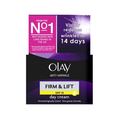 Olay Anti-Wrinkle Firm And Lift Anti-Ageing Day Moisturiser SPF 15 50 mL